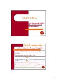 Ajustement 2011 du Plan d'actions - CSEF Mons