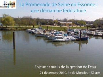 Intervention sur la Promenade de Seine - AUDESO