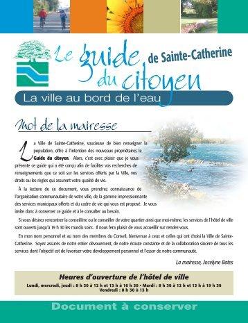 Guide du citoyen - Ville de Sainte-Catherine
