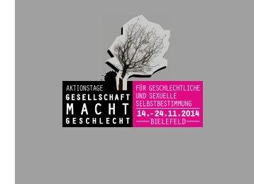 Aktionstage an der Uni Bielefeld (Download programm_bielefeld.pdf ...