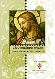 The Annulment Process - Diocese of Manchester