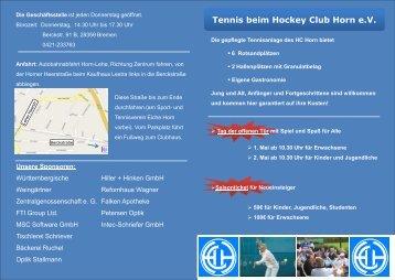 Tennis beim Hockey Club Horn e.V.