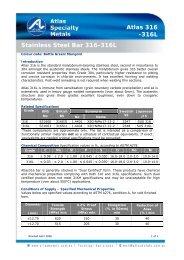 Stainless Steel Bar 316-316L Atlas 316 -316L - Atlas Steels