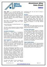 Aluminium Alloy Data Sheet 5052 - Atlas Steels