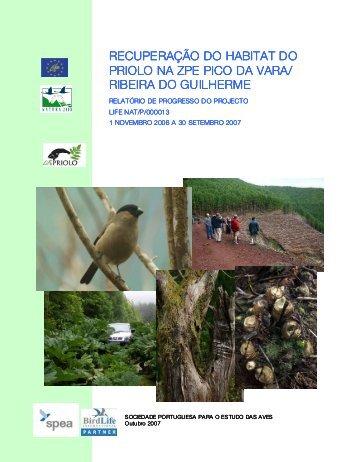 Relatório de Progresso LIFE Priolo 2006-2007 - spea