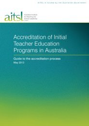Guide to the Accreditation Process - Australian Institute for Teaching ...