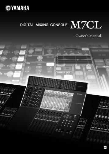 Yamaha M7CL - Point Source Productions Ltd
