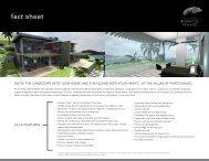 Porto Maho Fact Sheet The Villas - sxm Luxury Properties
