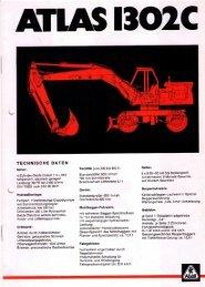Technische Daten Prospekt AB 1302C von 1974 - ATLAS ...