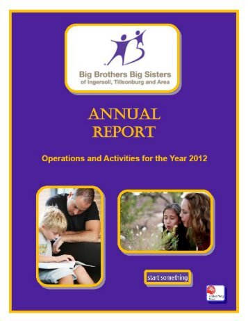 Click here to view the 2012 Annual Report - Big Brothers Big Sisters