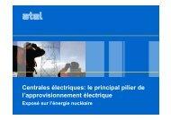 Centrales électriques: le principal pilier de l'approvisionnement ...