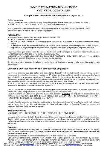 CR GT statut enqueteurs 28 juin 2011 internet - cgt-insee