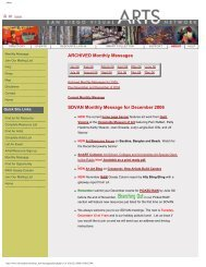Archived Monthly Messages for 2006 - San Diego Visual Arts Network