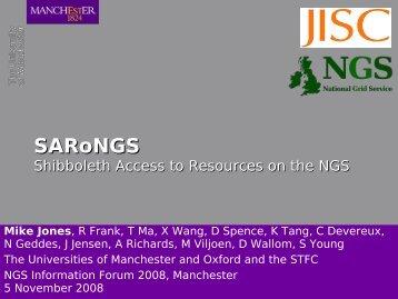 SARoNGS - National Grid Service