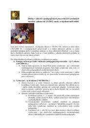 Změny v zákoně o pedagogických pracovnících vyvolaných ... - NIDM