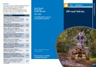 Off-Road Vehicles - City of Gosnells