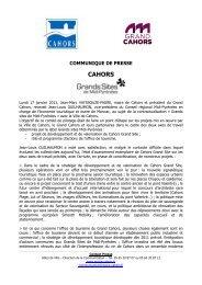 CP comite pilotage grand site 17 janvier - Cahors