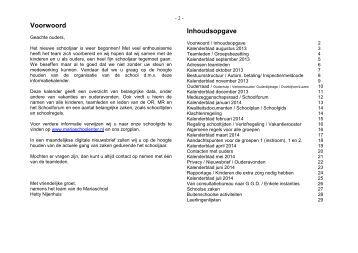 Informatiekalender 2013-2014 - Mariaschool