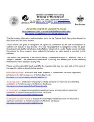 Diocese of Manchester Adult Recognition Award Package