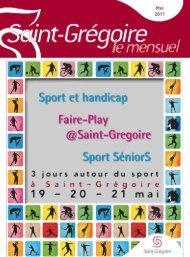 Saint-Grégoire, le Mensuel Mai2011