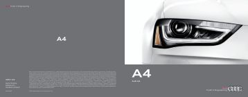 2013 Audi A4 Brochure - Motorwebs