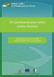 Un partenariat pour lutter contre l'érosion - Réseau wallon de ...