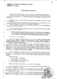 Proces verbal al şedinţei de îndată a Consiliului ... - Primaria Sulina