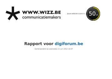 Rapport voor digiforum.be - WIZZ
