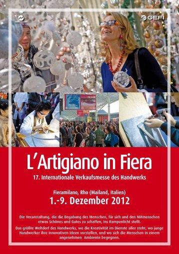1.-9. Dezember 2012 - L'Artigiano in Fiera