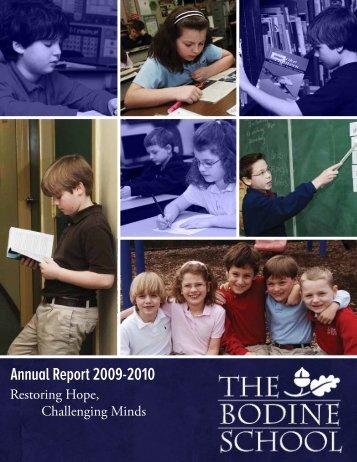Annual Report 2009-2010 - Bodine School