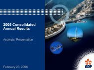download the 2005 annual results presentation - Shareholders and ...