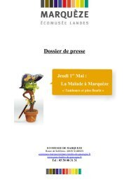Dossier de presse - Ecotourisme dans les Landes de Gascogne