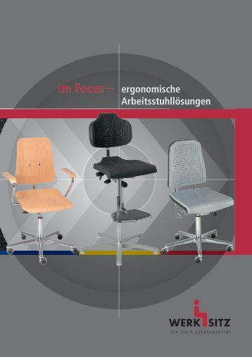 ergonomische Arbeitsstuhllösungen - Werksitz GmbH