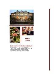 Erfolgreich tagen und Feste feiern - Gastronomie im Stadtpark Bochum