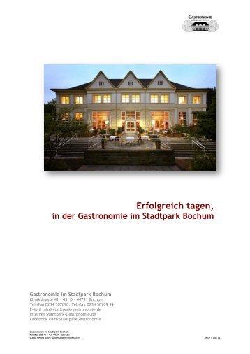 Erfolgreich tagen, in der Gastronomie im Stadtpark Bochum
