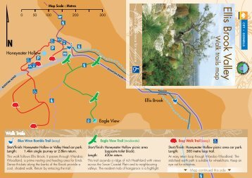 Ellis Brook Valley Walk Trails brochure - City of Gosnells