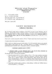 Rozhodnutí o umístění stavby - Kobylnice