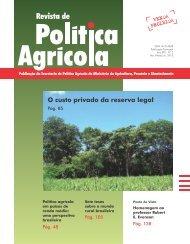 Revista de Política Agrícola nº 2/2013 - Ministério da Agricultura ...