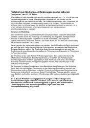 """Protokoll zum Workshop """"Anforderungen an das ... - Geowebforum.ch"""