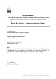 CONSULTATION Cahier des charges et ... - Tourisme Meuse