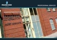 Professional Services Brochure - Frazer Kidd