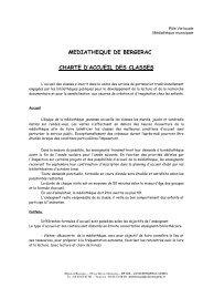 Charte accueil classes - Bergerac