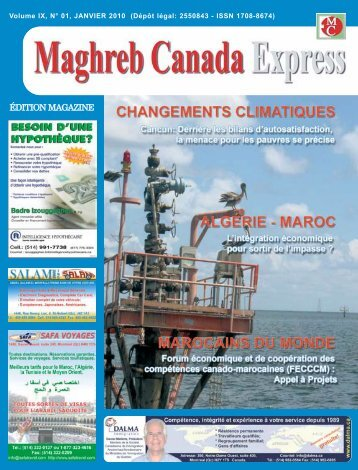 n° 91 janvier 2011 - Maghreb Canada