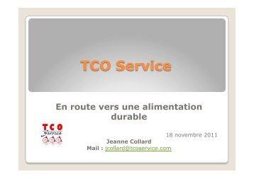 TCO Service En route vers une alimentation durable
