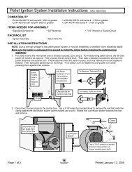 Pellet Ignition System Installation Instructions - Travis Industries ...