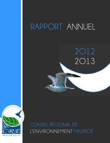 2O13 2O12 RAPPORT ANNUEL - Conseil régional de l ...