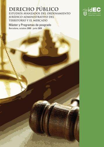 derecho público - IDEC - Universitat Pompeu Fabra