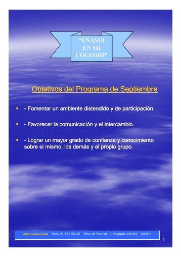 1 SEPTIEMBRE--Programa Actividades [Sólo lectura] [Modo de ...