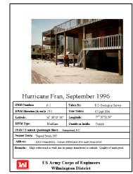 Hurricane Fran September 1996, High Water Marks - Iwr - U.S. Army