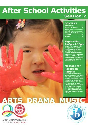 After School Activities ARTS DRAMA MUSIC